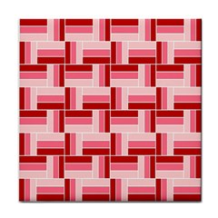 Pink Red Burgundy Pattern Stripes Face Towel