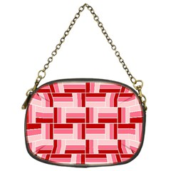 Pink Red Burgundy Pattern Stripes Chain Purses (one Side)