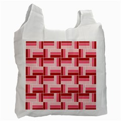 Pink Red Burgundy Pattern Stripes Recycle Bag (two Side)