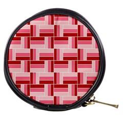 Pink Red Burgundy Pattern Stripes Mini Makeup Bags