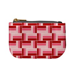 Pink Red Burgundy Pattern Stripes Mini Coin Purses