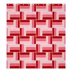 Pink Red Burgundy Pattern Stripes Shower Curtain 66  X 72  (large)