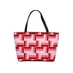 Pink Red Burgundy Pattern Stripes Shoulder Handbags