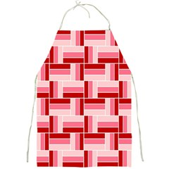 Pink Red Burgundy Pattern Stripes Full Print Aprons