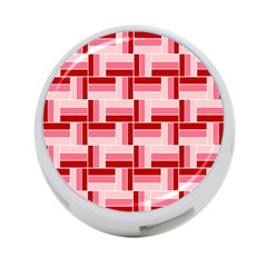 Pink Red Burgundy Pattern Stripes 4 Port Usb Hub (two Sides)