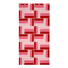 Pink Red Burgundy Pattern Stripes Shower Curtain 36  X 72  (stall)