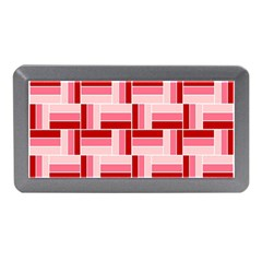 Pink Red Burgundy Pattern Stripes Memory Card Reader (mini)