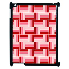 Pink Red Burgundy Pattern Stripes Apple Ipad 2 Case (black)