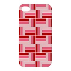 Pink Red Burgundy Pattern Stripes Apple Iphone 4/4s Hardshell Case