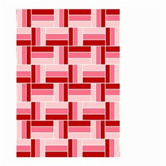 Pink Red Burgundy Pattern Stripes Small Garden Flag (two Sides)
