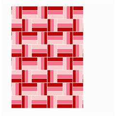 Pink Red Burgundy Pattern Stripes Large Garden Flag (two Sides)