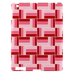 Pink Red Burgundy Pattern Stripes Apple Ipad 3/4 Hardshell Case