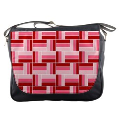 Pink Red Burgundy Pattern Stripes Messenger Bags