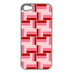 Pink Red Burgundy Pattern Stripes Apple Iphone 5 Case (silver)