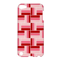 Pink Red Burgundy Pattern Stripes Apple Ipod Touch 5 Hardshell Case