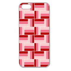 Pink Red Burgundy Pattern Stripes Apple Seamless Iphone 5 Case (clear)
