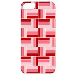 Pink Red Burgundy Pattern Stripes Apple Iphone 5 Classic Hardshell Case