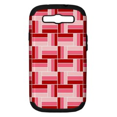 Pink Red Burgundy Pattern Stripes Samsung Galaxy S Iii Hardshell Case (pc+silicone)