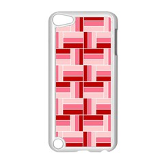 Pink Red Burgundy Pattern Stripes Apple Ipod Touch 5 Case (white)