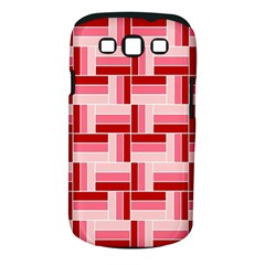 Pink Red Burgundy Pattern Stripes Samsung Galaxy S Iii Classic Hardshell Case (pc+silicone)