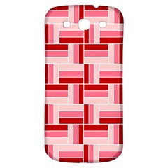 Pink Red Burgundy Pattern Stripes Samsung Galaxy S3 S Iii Classic Hardshell Back Case