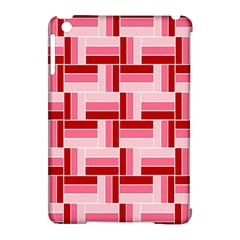 Pink Red Burgundy Pattern Stripes Apple Ipad Mini Hardshell Case (compatible With Smart Cover)