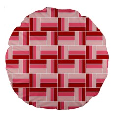 Pink Red Burgundy Pattern Stripes Large 18  Premium Round Cushions