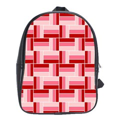 Pink Red Burgundy Pattern Stripes School Bags (xl)
