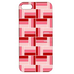Pink Red Burgundy Pattern Stripes Apple Iphone 5 Hardshell Case With Stand
