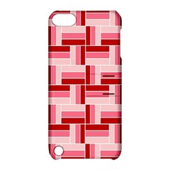 Pink Red Burgundy Pattern Stripes Apple Ipod Touch 5 Hardshell Case With Stand