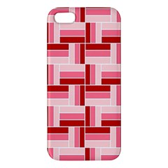 Pink Red Burgundy Pattern Stripes Apple Iphone 5 Premium Hardshell Case