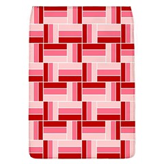 Pink Red Burgundy Pattern Stripes Flap Covers (l)