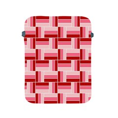 Pink Red Burgundy Pattern Stripes Apple Ipad 2/3/4 Protective Soft Cases