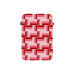 Pink Red Burgundy Pattern Stripes Apple Ipad Mini Protective Soft Cases