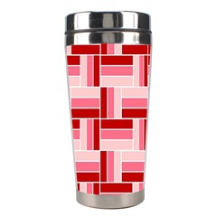 Pink Red Burgundy Pattern Stripes Stainless Steel Travel Tumblers