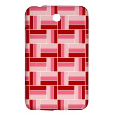 Pink Red Burgundy Pattern Stripes Samsung Galaxy Tab 3 (7 ) P3200 Hardshell Case