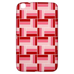 Pink Red Burgundy Pattern Stripes Samsung Galaxy Tab 3 (8 ) T3100 Hardshell Case