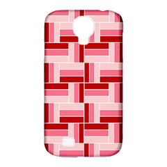 Pink Red Burgundy Pattern Stripes Samsung Galaxy S4 Classic Hardshell Case (pc+silicone)