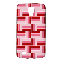Pink Red Burgundy Pattern Stripes Galaxy S4 Active