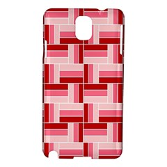 Pink Red Burgundy Pattern Stripes Samsung Galaxy Note 3 N9005 Hardshell Case
