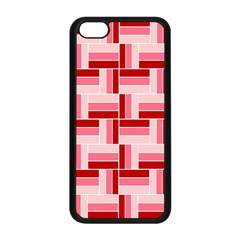 Pink Red Burgundy Pattern Stripes Apple Iphone 5c Seamless Case (black)