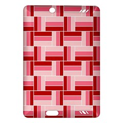 Pink Red Burgundy Pattern Stripes Amazon Kindle Fire Hd (2013) Hardshell Case