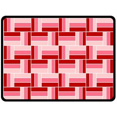 Pink Red Burgundy Pattern Stripes Double Sided Fleece Blanket (large)