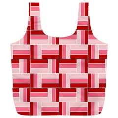 Pink Red Burgundy Pattern Stripes Full Print Recycle Bags (l)