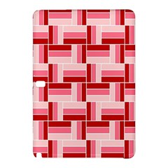 Pink Red Burgundy Pattern Stripes Samsung Galaxy Tab Pro 10 1 Hardshell Case