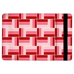 Pink Red Burgundy Pattern Stripes Ipad Air Flip