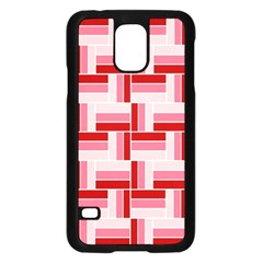 Pink Red Burgundy Pattern Stripes Samsung Galaxy S5 Case (black)