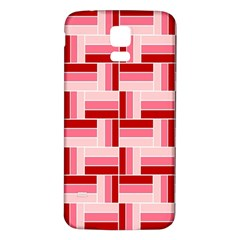 Pink Red Burgundy Pattern Stripes Samsung Galaxy S5 Back Case (white)