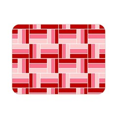 Pink Red Burgundy Pattern Stripes Double Sided Flano Blanket (mini)