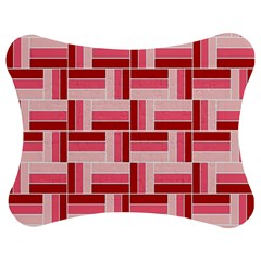 Pink Red Burgundy Pattern Stripes Jigsaw Puzzle Photo Stand (Bow)